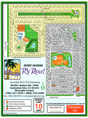 Desert Shadows RV Resort Map